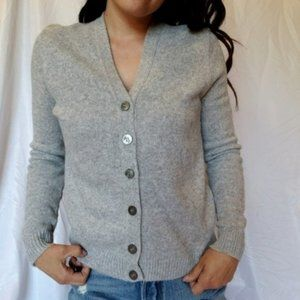 Vintage Gray Long Sleeve Button Down Cardigan